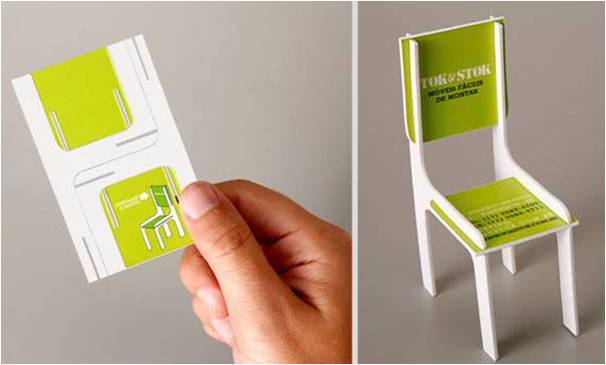 fold out chair business card