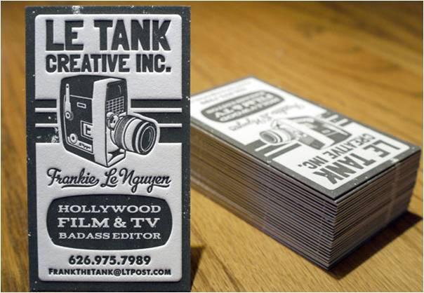 letterpress card business card